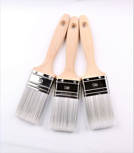 3 Profi Lasurpinsel  Acryl -Lackierpinsel Flachpinsel 50mm