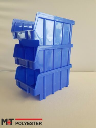 Stapelbox 240x150x130mm Stapelkasten Box blau 5 er Spar-Set